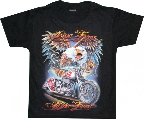 T-Shirt Kids - Live free ride free