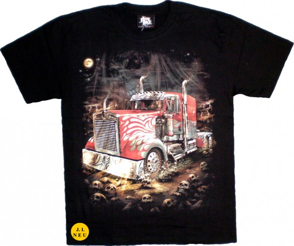 T-Shirt Adults - red Truck Glow