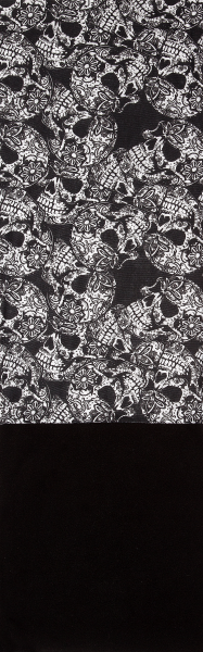 PiWear® Tube Skulls Black/White Fleece