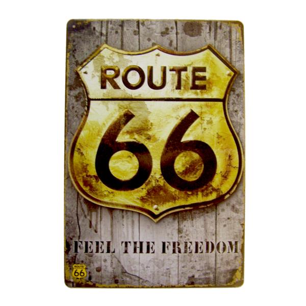 PiWear Blechschild Route 66