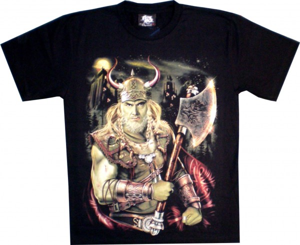 T-Shirt Adults - Viking with Axe Glow
