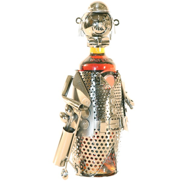 PiWear® Weinflaschenhalter Golfspieler Metall Figur