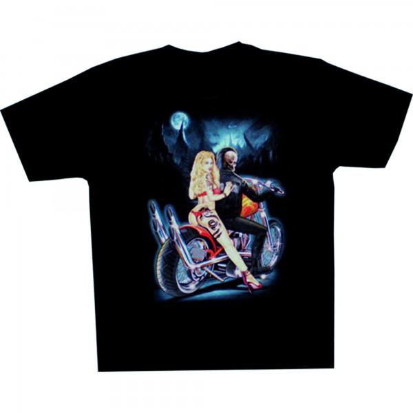 T-Shirt Adults - Skeleton on Bike