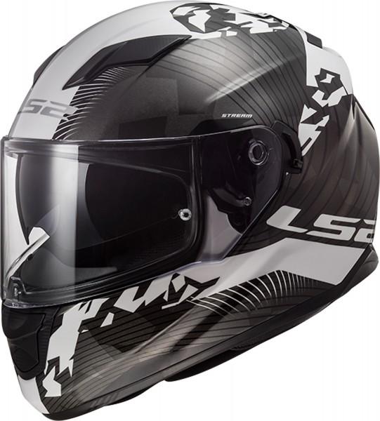 LS2 FF320 Stream Evo Hype Black White Titanium