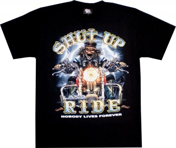 T-Shirt Erwachsene - Shut up and Ride - Glow