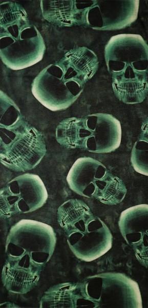 PiWear® Schlauchschal Skull Green