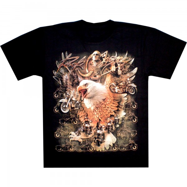 T-Shirt Erwachsene - Adler mit Presidenten - Rock Chang - Glow