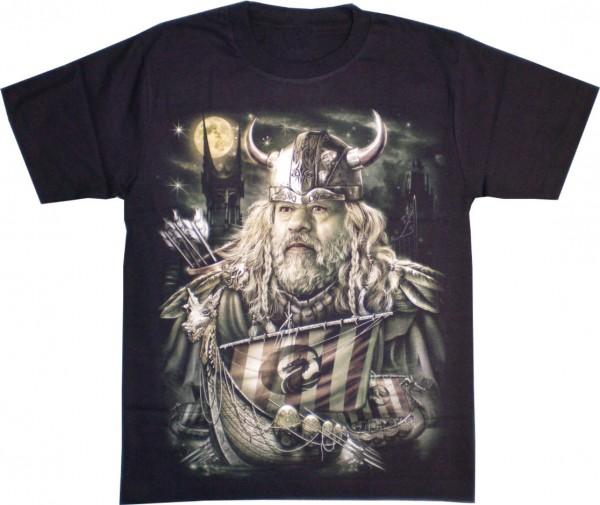T-Shirt Adults - Viking and Ship Glow