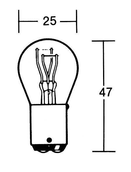 P21/5W Glühlampe 12V 21/5W BAY15D