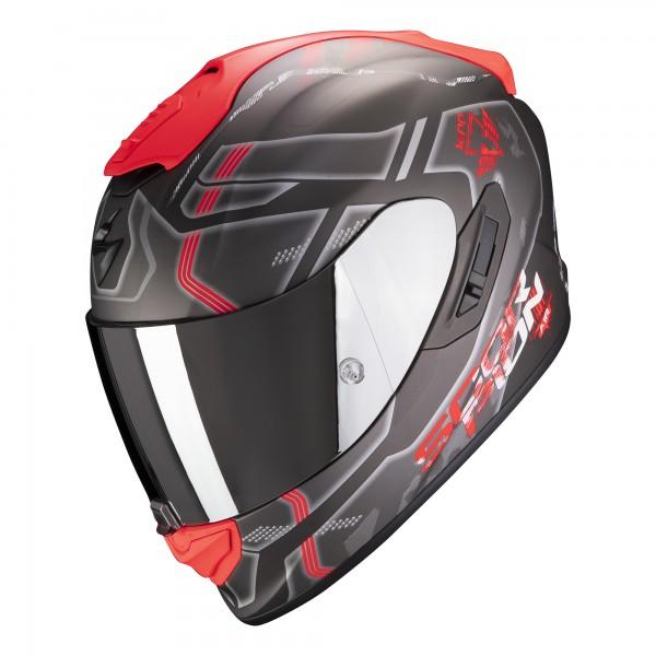 Scorpion Exo-1400 Air Spatium Matt Silber-Rot