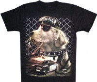 T-Shirt Adults - Police Dog Glow