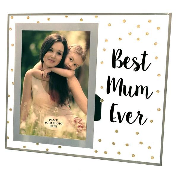 PiWear® Bilderrahmen Glas - Best Mum Ever