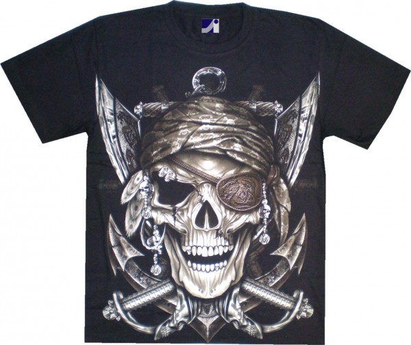T-Shirt Adults - Pirateskull Glow
