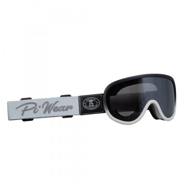PiWear® Arizona Überbrille schwarz grauer Rahmen graues Band dunkel getönt verspiegelt Retro Brille
