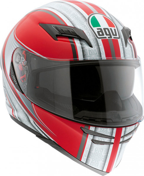 AGV Skyline red-white-silver XXS