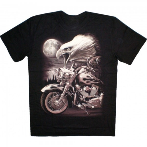 T-Shirt Adults - Eagle and Custombike