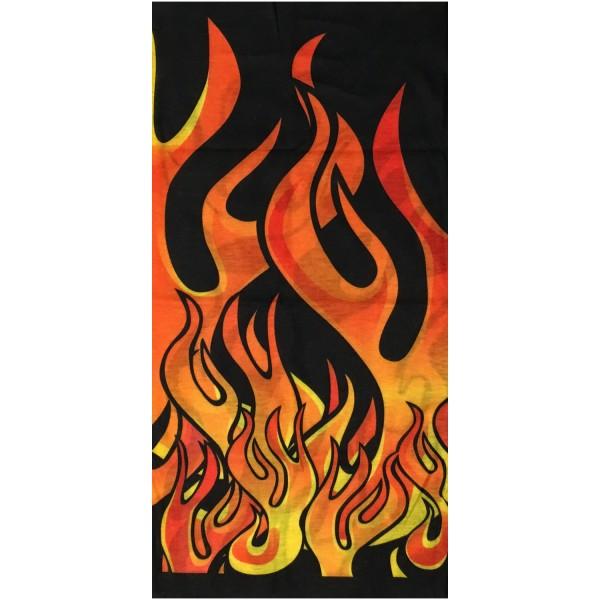 PiWear® Schlauchschal Flames Black