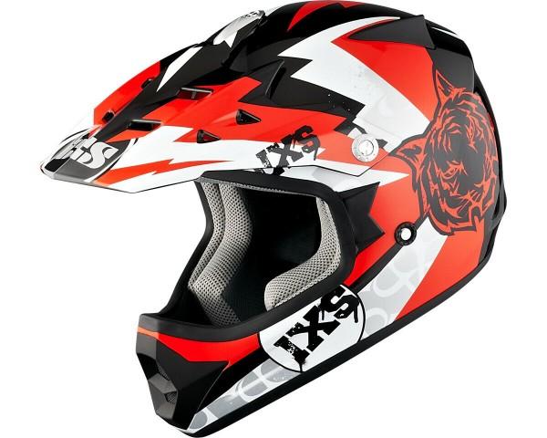 IXS HX 278 Tiger schwarz-rot-weiß 50